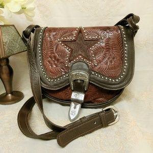 American West Leather Crossbody Hip Bag